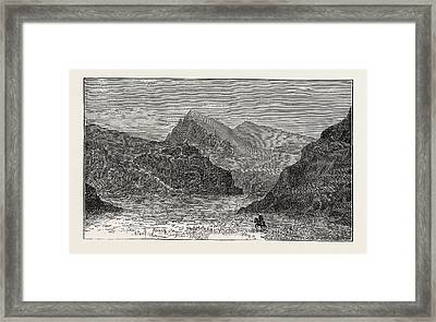 View Of The Bolan Pass Framed Print by English School