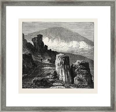 View Of The Brocken, In The Harz Mountains Framed Print