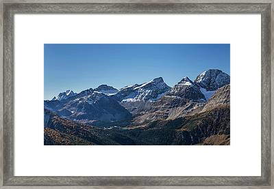 View Of The Burstall Pass, Mt. Black Framed Print by Panoramic Images