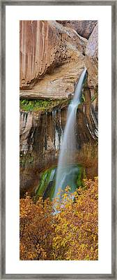 View Of The Calf Creek Falls, Grand Framed Print