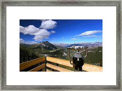 View Of The Canadian Rockies Framed Print