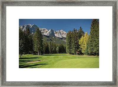 View Of The Canmore Golf Course, Mount Framed Print