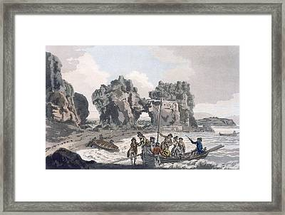 View Of The Castle Rock Framed Print by J. & Ibbetson, J.C. Hassell