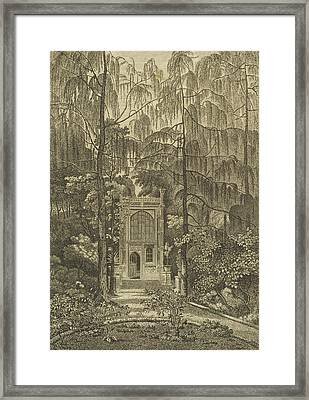 View Of The Chapel In The Garden Framed Print