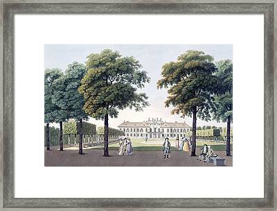 View Of The Chateau Of Pleasure Framed Print by Laurenz Janscha