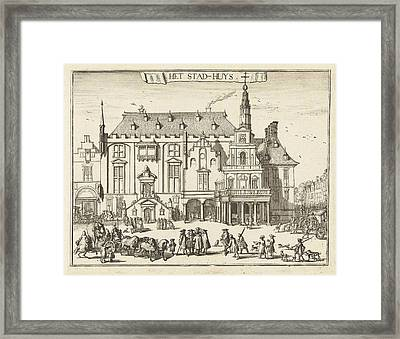 View Of The City Hall In Haarlem, The Netherlands Framed Print