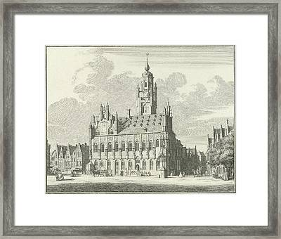 View Of The City Hall Of Middelburg The Netherlands Framed Print