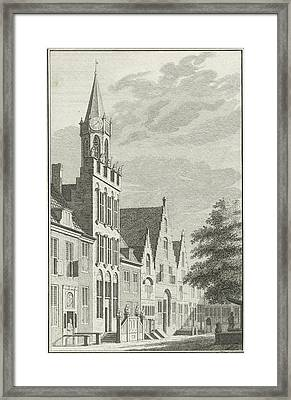 View Of The City Hall Of Tholen The Netherlands Framed Print