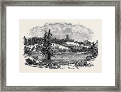 View Of The Country Near Russian River Framed Print by English School
