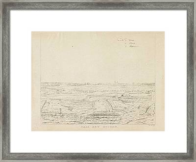 View Of The Countryside South Of Nijmegen Framed Print by Derk Anthony Van De Wart