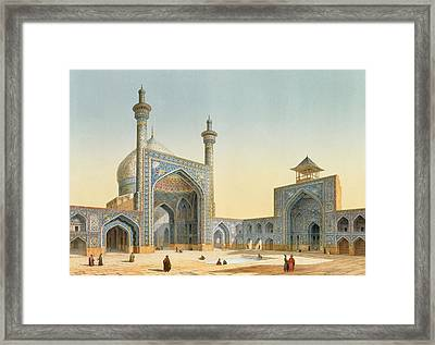 View Of The Courtyard Framed Print by Pascal Xavier Coste