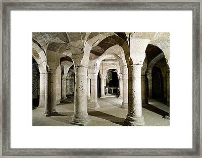 View Of The Crypt Photo Framed Print by French School