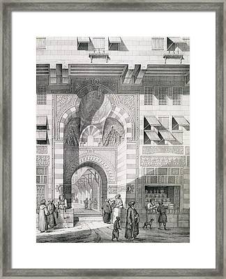 View Of The Door Of Okal Kaid-bey Framed Print