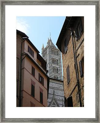 Framed Print featuring the photograph View Of The Duomo by Victoria Lakes