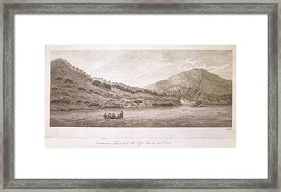 View Of The Endeavour River Framed Print by British Library
