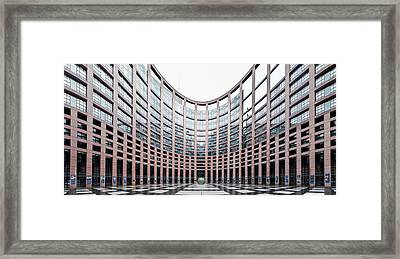 View Of The European Parliament Framed Print