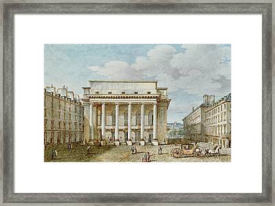 View Of The Facade Of The Theatre Italien Salle Favart  Framed Print by Victor Jean Nicolle
