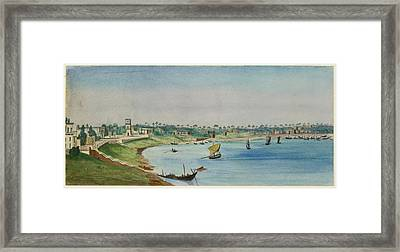 View Of The French Settlement Framed Print by British Library