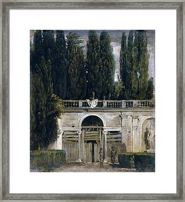 View Of The Garden Of The Villa Medici Framed Print