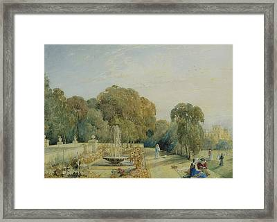 View Of The Gardens At Chatsworth Framed Print by Frances Elizabeth Swinburne