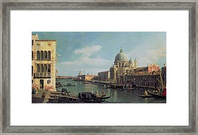View Of The Grand Canal Santa Maria Framed Print