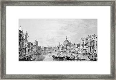 View Of The Grand Canal, Venice, C.1800 Pen & Ink Wash Framed Print
