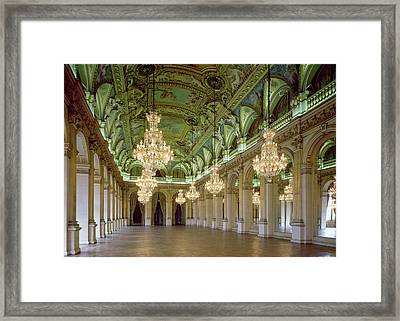 View Of The Grande Salle Des Fetes Framed Print by French School