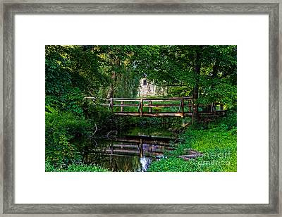 View Of The Grist Mill At Waterloo Village Framed Print