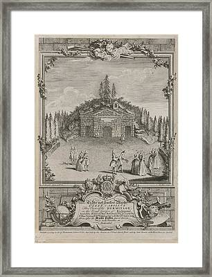 View Of The Hermitage Framed Print by British Library