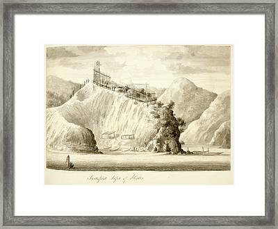 View Of The Hippa On Motuaro Framed Print