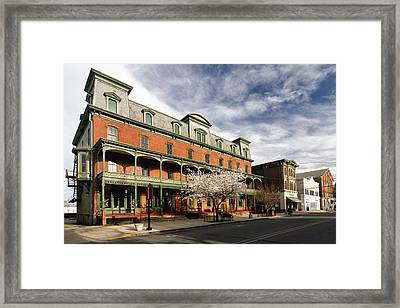 View Of The Historic Union Hotel In Flemington Framed Print by George Oze