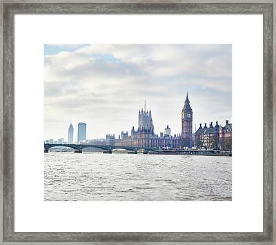 View Of The Houses Of Parliament And Framed Print by Frank And Helena