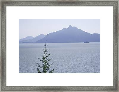 View Of The Howe Sound In British Columbia Framed Print