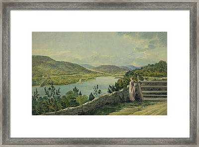 View Of The Hudson Circa 1817 Framed Print by Aged Pixel