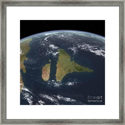 View Of The Indian Subcontinent Framed Print