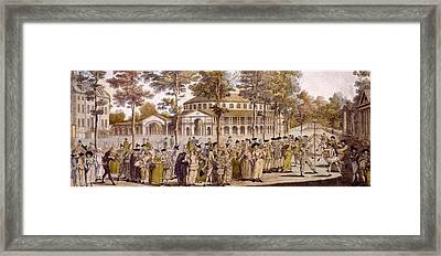 View Of The Jubilee Ball, Ranelagh Framed Print by English School