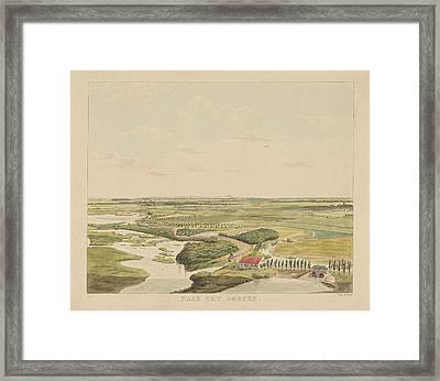 View Of The Landscape East Of Nijmegen, Derk Anthony Van De Framed Print by Derk Anthony Van De Wart