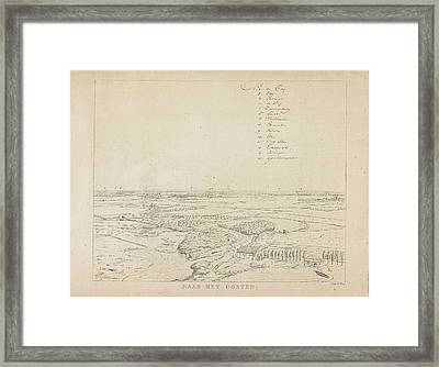 View Of The Landscape East Of Nijmegen, With Floodplains Framed Print by Derk Anthony Van De Wart