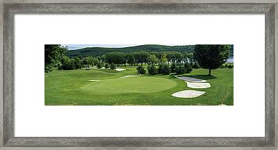 View Of The Leatherstocking Golf Framed Print by Panoramic Images