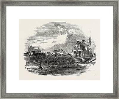 View Of The Liebfrau Vineyard Framed Print