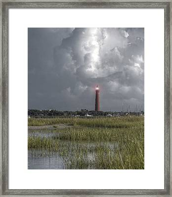View Of The Lighthouse  Framed Print