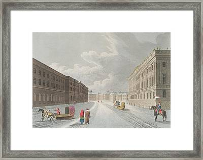 View Of The Marble Palace In The Grand Framed Print by Mornay