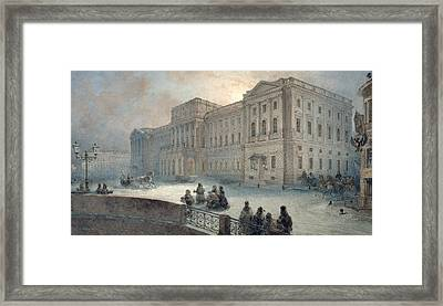 View Of The Mariinsky Palace In Winter Framed Print