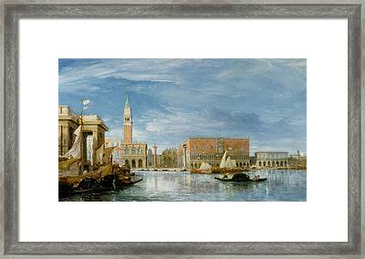 View Of The Molo And The Palazzo Ducale In Venice  Framed Print by James Holland