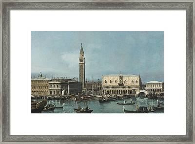 View Of The Molo From The Bacino Di San Marco Framed Print by Celestial Images