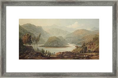 View Of The Mondego River Framed Print by John Varley