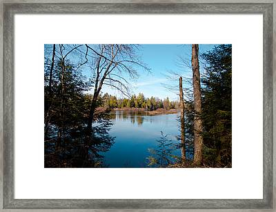 View From The Lock And Dam Trail Framed Print by David Patterson