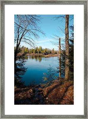 Moose River View From The Lock And Dam Trail  Framed Print by David Patterson