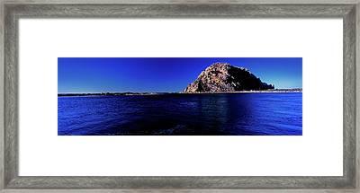 View Of The Morro Rock, Morro Bay, San Framed Print