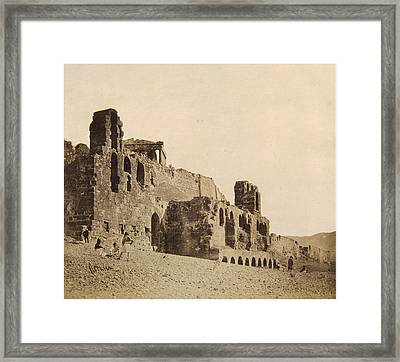 View Of The Odeon Of Herodes Atticus Framed Print